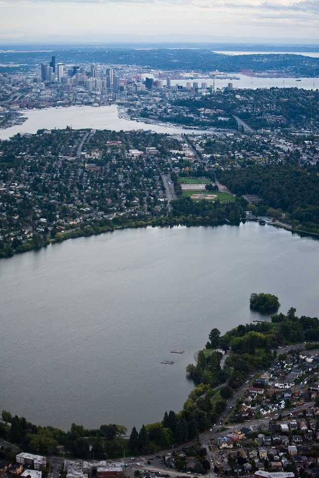 Green Lake, Lake Union, and Downtown
